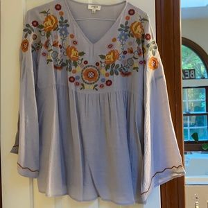 Bohemian embroidered cute top small
